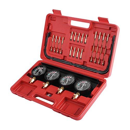 MIKOBUY Tester di Compressione per Motori a Benzina Kit Tester Pressione di Compressione per Motori Auto