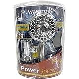 Waterpik Power Spray Vaporisateur Pomme de douche mode 14réglages à main de massage tête de douche chromé avec contrôle OptiFlow 1,5L + alimentation hybride avec tuyau 5pieds en acier inoxydable–FULL BODY Vaporisateur