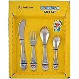Doraemon Stainless Steel Cutlery Set For Kids (1 Baby Spoon, 1 Baby Fork, 1 Baby Knife, 1 Tea Spoon)(Silver)