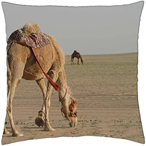 Camel - Throw Pillow Cover Case (18