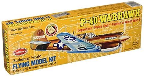 GUILLOW's P-40 Warhawk 501 Powered Balsa Flying Model Kit