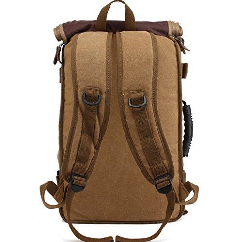 YAAGLE 3 in 1 multifunktionsrucksack Handtasche Umhängetasche Rucksack Wanderrucksack Trekkingtasche Khaki