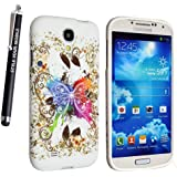 GSDSTYLEYOURMOBILE {TM} SAMSUNG GALAXY S4 MINI i9190 SILICONE SILIKON CASE SKIN GEL TPU TASCHE Hülle COVER + STYLUS (New Multi Butterfly)