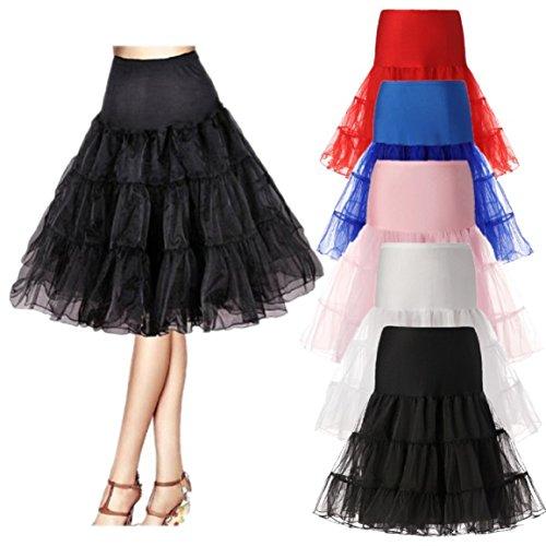 Clearbridal Damen kurz tüll Petticoat Unterrock für Hochzeitskleider Cocktailkleider Ballkleider tutu Rock mehrfarbig C12018 Rot-018
