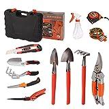 12-teiliger Garten Werkzeug Set, Dazone Gartengeräte Handwerkzeug im Tragekoffer, Gartenwerkzeuge...
