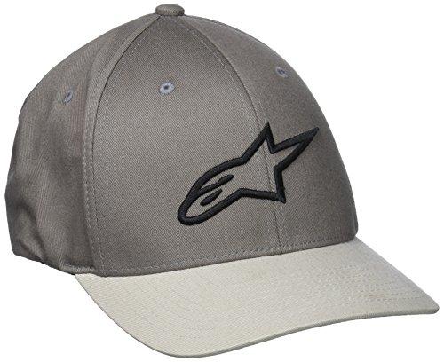 Alpinestars Herren Ageless Curve Men's Logo Flexfit Hat Curved Bill Flex Back Cap, Grau, L/XL