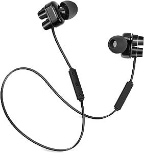 Forceatt Updated Version/Skidproof Bluetooth Headphones V4.1 Wireless Stereo Sport Headphones with Microphone(Black)