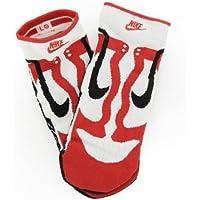 Nike Dunk SB Icon calzini in Nero, Bianco, Rosso, uomo, RED, BLACK, WHITE, UK 5-8