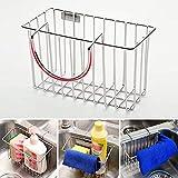 GEZICHTA lavello in acciaio INOX mensola porta sapone spugna Drain rack mensola da bagno, doccia, cestino portaoggetti, cucina appeso cesto portaoggetti
