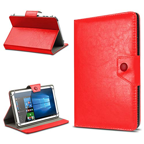 UC-Express Tasche Schutz Hülle für TrekStor SurfTab xintron i 10.1 Tablet Case Stand Cover Farbauswahl, Farben:Rot, Tablet Modell für:Acer Iconia A3-A10