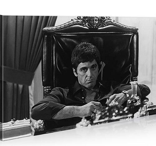 lder auf Leinwand Al Pacino Scarface 1p XXL Poster Leinwandbild Wandbilder Dekoartikel Wohnzimmer Marke ()