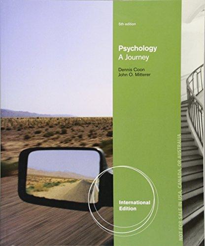 Psychology: A Journey, International Edition