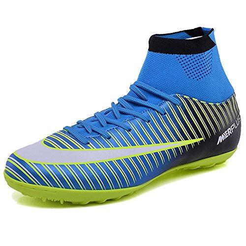 KAMIXIN Botas de Fútbol Hombre Aire Libre Deporte Cesped Artificial  Zapatillas de Futbol Training Adolescentes Niños fc8fa1686307e