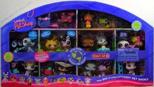 Littlest Pet Shop - Pets Around the World - EXCLUSIVE - 15er Set - OVP - Shop-pet-sets Pet Littlest