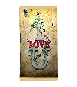 Printvisa Brown Background Love Quote Back Case Cover for Sony Xperia Z5::Sony Xperia Z5 Dual