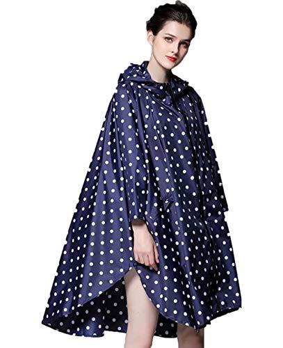 NUUR Damen Regenponcho Jacke Wasserdicht Leicht Wiederverwendbar Wandern Regenmantel Jacke mit Kapuze - - Einheitsgröße