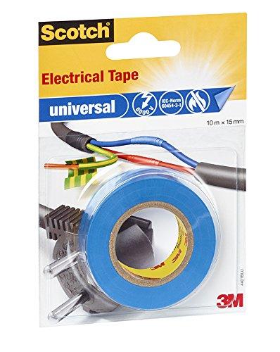 Scotch 4401BLU Isolierband universal, 15 mm x 10 m, 1 Stück, blau