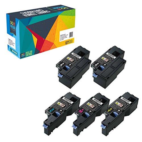 Do it Wiser ® Kompatibel Toner Hohe Kapazität für Dell E525w - 593-BBLN 593-BBLL 593-BBLZ 593-BBLV Kapazität: Schwarz 2000 Seiten - Farben 1400 Seiten (5er Packung)