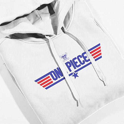 One Piece Top Gun Logo Women's Hooded Sweatshirt white