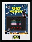 GB Eye Space Invaders, Bildschirm Gerahmter Kunstdruck, mehrfarbig, 40x 30cm