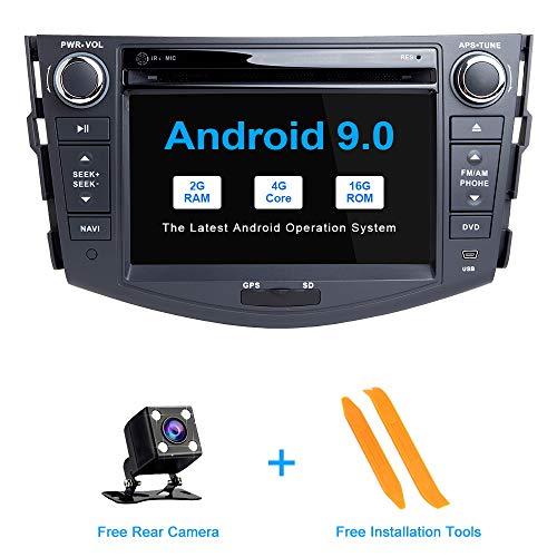 ZLTOOPAI Android 9.0 Autoradio 7 Zoll Multi-Touchscreen Auto Stereo GPS Navigation Auto Media Player Doppel Din Head Unit für Toyota RAV4 2006-2012 SupportFull RCA Ausgang (Navigation Rav4 System Toyota)