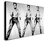 FAB Andy Warhol Pop Art-Elvis Presley-Kunstdruck gerahmt Wandbild-verschiedene Größen, holz, rose, A0 47x33inches