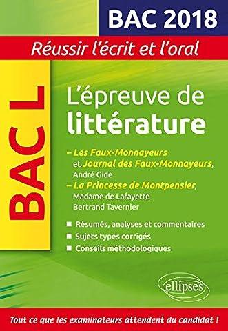 Bertrand Tavernier Livre - L'épreuve de littérature Bac 2018 : Gide,