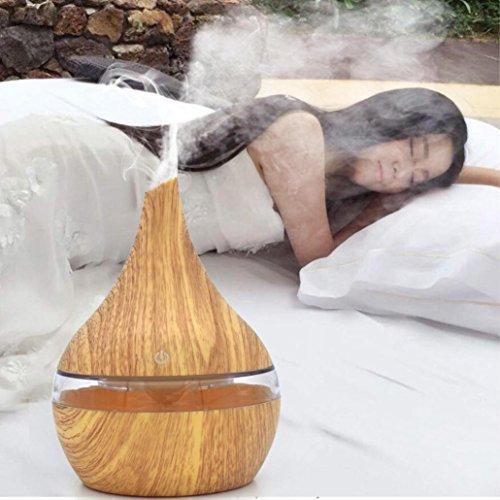 Diffuseurs d'huiles essentielles Covermason Humidificateur ultrasonique d'Aromatherapy d'arome de diffuseur d'huile essentielle d'air Aroma (jaune)