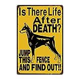yycsqy Poster da Parete in Metallo Vintage Adesivi Charlie Attenti al Cane Targa in Metallo Poster di Latta Decorazioni per La Casa Bar Arte della Parete Pittura Dimensioni 20 * 30 Cm
