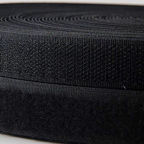 Tout Simplement Le Noir Bande Velcro et Feuilles ~ 100 mm de Large Coudre ~ refermable Coussinets de Tissu pour la Couture