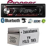 VW Polo 9N3 - Autoradio Radio Pioneer DEH-S3000BT - Bluetooth | CD | MP3 | USB | Android Einbauzubehör - Einbauset