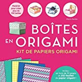 Boîtes en origami Kit de papiers origami...