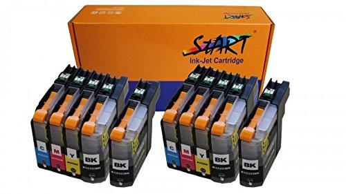 Preisvergleich Produktbild 10 XL Ersatz Chip Patronen kompatibel zu Brother LC-223 LC-225 LC-227 XL - Ab Firmware Version F (G/H/I/ etc.) - BK Schwarz, C Cyan, M Magenta, Y Gelb für Brother DCP-J4120DW, MFC-J4420DW, MFC-J4425DW, MFC-J4620DW, MFC-J4625DW, MFC-J5320DW, MFC-J5620DW, MFC-J5625DW, MFC-J5720DW