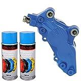 Bremssattellack Spray 1K Blau 1 Komponenten Lack Lackspray 2x400ml Neu
