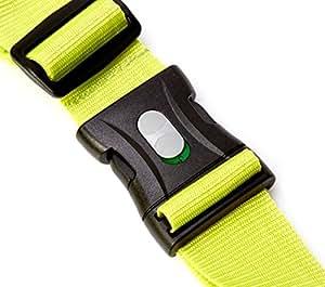Kofferband I Koffergurt I Gepäckgurt extra lang (250x5cm) mit verschließbarer Schnalle von BE-HOLD schützt Ihren wertvollen Gepäckinhalt vor Verlust (Farbe grün)