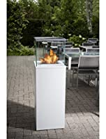 Bio Blaze Outdoor Column Fireplace White
