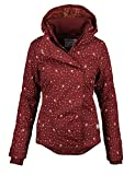 Sublevel Damen Herbst Übergangsjacke Winter warme Jacke Winterjacke Outdoor B167 (Gr.L/Gr.42, Bordeaux-Herz)