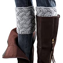 ✽Internet✽ Invierno mujeres aguja calcetines calcetines Boot Cover