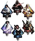 alles-meine.de GmbH 6 tlg. Set _ XL Fensterbilder -  Star Wars / Figuren  - Incl. Name - Sticker..