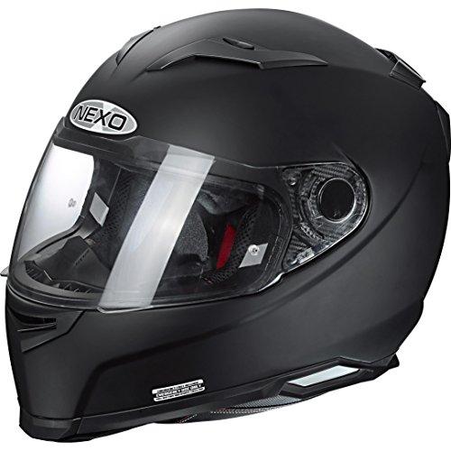Nexo Integralhelm, Motorradhelm, Vollvisierhelm Integralhelm 3 Composite Race mattschwarz M, Unisex, Sportler, Ganzjährig, matt schwarz