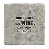 Indie-Rock und Wein Was ist noch?–Marble Tile Drink Untersetzer