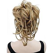 Kalyss - Extension per capelli con molletta, corta, 30,5cm, capelli ondulati, a coda di cavallo, con