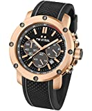 TW Steel Herren-Armbanduhr Chronograph Silikon Schwarz TS5