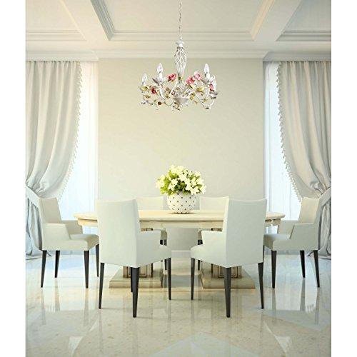 Florentiner Kronleuchter Chic-Stil Metall weiß - 10