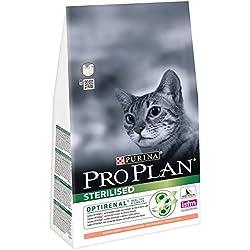 Purina Proplan - Croquettes Haut de Gamme pour le Bien-Etre des Chats Castrés ou Stérilisés - Saumon - Pack de 1,5 Kg