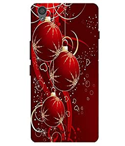 Citydreamz Red & Golden Hearts\Balls\Love\Greetings\Gift Hard Polycarbonate Designer Back Case Cover For OnePlus X