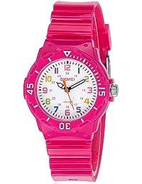 INWET Kinder Armbanduhr,Weiß Zifferblatt mit Bunt Nummern,Rose Armbanduhr für Studenten