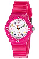 INWET Time Teacher Watch for Children Kids Boys Girls,Two Time Display Modes Colourful Numbers Rose Red