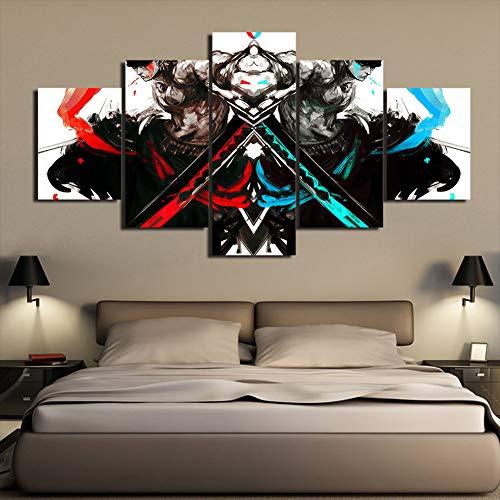Blanco Y Negro Wall Art Cuadros En Lienzo 5 Unidades