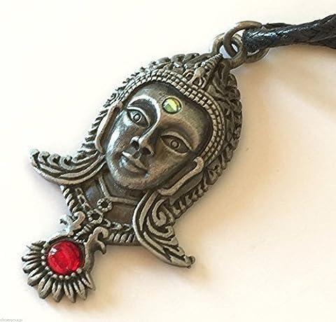 Pendentif Dharma-Briar symbolique en étain, DJA Bouddha tranquillité et la créativité